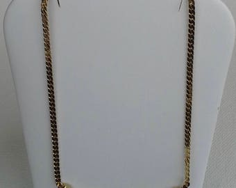 Vintage Trifari modernist gold tone choker necklace