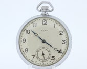 Syra Pocket Watch Swiss Made Movement Wheat Engraved Motif