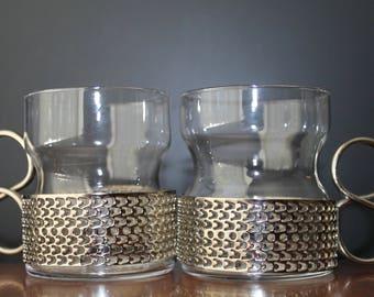 Vintage Iittala Tsaikka Tea Glasses Timo Sarpaneva Glasses Vintage Barware Mid Century Modern Bar Cart Danish Modern home Scandinavian Glass