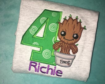 Guardians of the Galaxy Inspired Birthday Shirt