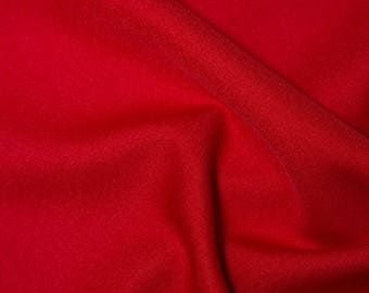 "Red - Polyester Twill Plain Fabric 150cm (59"") Wide Dressmaking Material"
