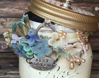 Bridal Shower Gift for Bride Keepsake Jar
