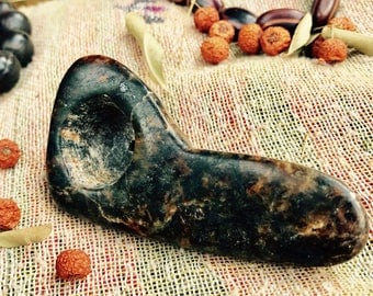 Stone pipe, hand carved stone pipe, smoking pipe, ceremonial pipe, festival stone pipe, soap stone