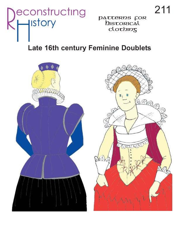 Doblete isabelina coser patrones de puntada jubón femenino