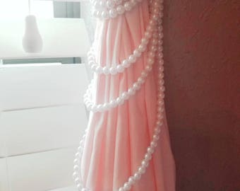 Pearl and Lace Curtain Tie Back