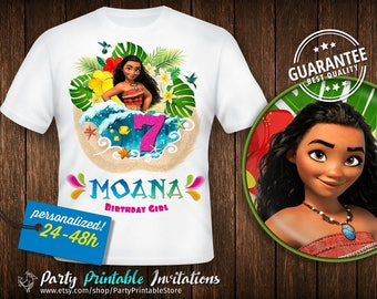 Moana birthday Shirt, Moana birthday Shirt Girl, Moana birthday Shirt Iron on, Moana birthday Shirt Baby, Moana Birthday Shirt Printable