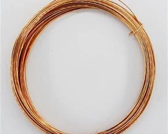 Rose Gold Filled Wire, Half Hard, Round, Half troy Ounce, By Weight