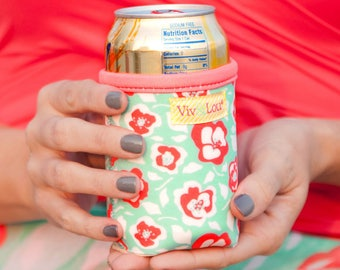 Flora Bora Drink Wrap * Insulated Can Holder * Bottle Insulator * Insulated Drink Holder Wrap * Gift
