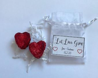 Wildflower Heart Seed Bomb Wedding Favors. Wedding Favors. Customizable. Seed Bombs. Seedbombs. Seeds. Let Love Grow.