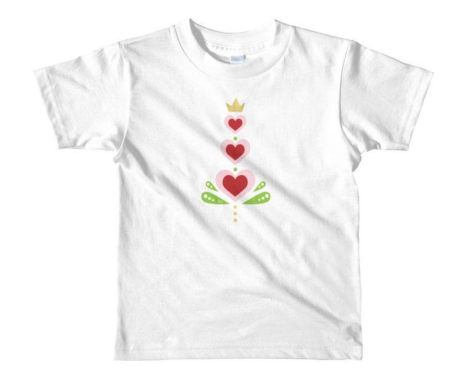 Toddler Short sleeve t-shirt, Valentine Hearts T-Shirt, Hearts