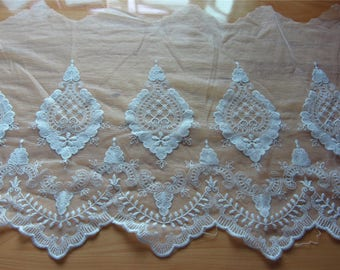 embroidery lace trim,white wedding lace ribbon ,embroidery trimming,Beautiful vintage netting lace trim
