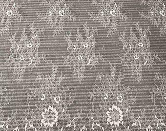 "Hight quality off white eyelash lace Fabric 1.5yards/3yards ,off White Chantilly Lace fabric  for wedding 59"" width lace veil"