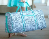 Parker Paisley Duffel Bag, Monogrammed Duffel, Viv and Lou, WB, Matching Items