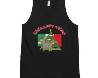 Dominick the donkey Christmas Classic tank top (unisex)