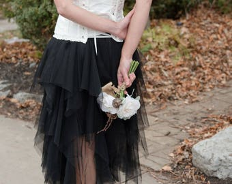 Black Tulle skirt black skirt black tutu adult tulle skirt adult tutu long tulle skirt black tutu skirt wedding tulle skirt wedding skirt