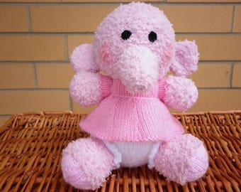 Little Blossom the pretty pink elephant is designed by Alan Dart