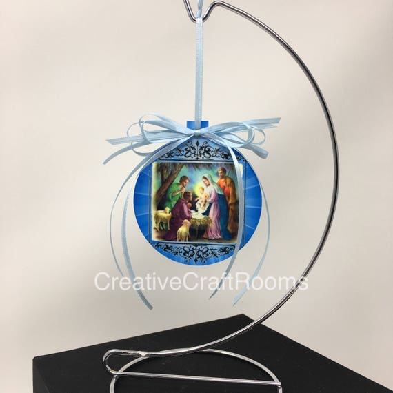 Nativity Christmas Ornaments, Religious ornament, Christmas Ornament, Photo Ornament, Birth of Christ Ornament, Tree Decor