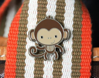 NEW & ON SALE! Monkey Enamel Pin from Doodlebug Design - Limited Edition