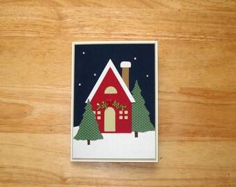 Christmas Card - Christmas House Card - Christmas Winter House Card - Christmas Greeting Card - Merry Christmas Card - Holiday Card