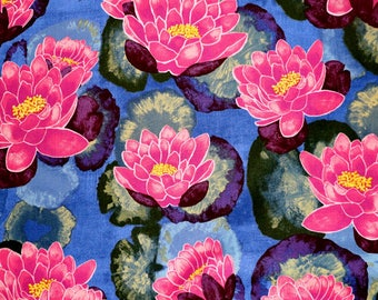 Fabric - Michael Miller - Blooming lotus - medium weight woven cotton fabric.