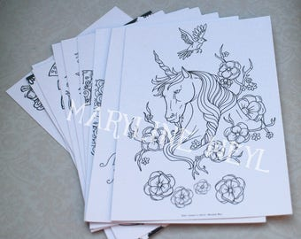 set of 10 postcard coloring - coloring