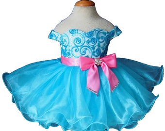 girl pageant dress SIZE 1T  Y002