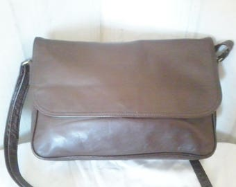 Lemarié-Gaigeard soft leather bag in chocolate.
