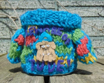 Mabel Sweater Mug Cosy - Bulldog
