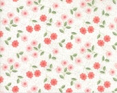 Nest Fabric by Lella Boutiquee for Moda, #5062-11, Eggshell Blush, Classic Blossom Pink White - IN STOCK