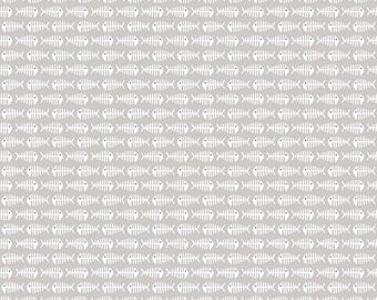 Meow by My Mind's Eye for Riley Blake, C6565-GRAY, Fish Fabric, Gray Fish, Grey, Cats, Cat Lover, Cat Fabric - IN STOCK