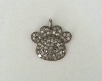 Diamond dog paw  charm