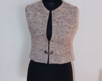 Vintage Women Wool Dirndl German Austrian Traditional Folk Oktoberfest Vest Size Medium