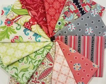 FQ fabric bundle of Feathers and Flourishes fabric line from Contempo of  Benartex designed by Amanda Murphy.