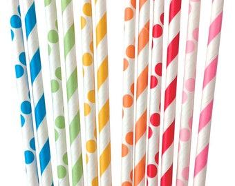 Toot Sip Paper Straws, Polka Dot Straws, Party Straws, Toot Sweet Straws, Drinking Straws, Birthday Party Decor, Boy Party, Girl Party