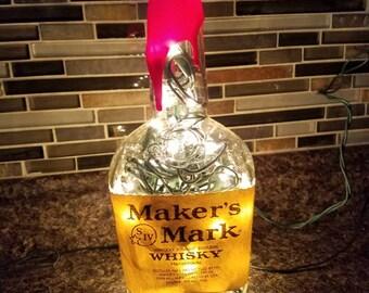 Maker's Mark Whisky Light Up Bottle