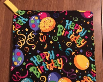 Happy Birthday Pot Holder Hot Pad