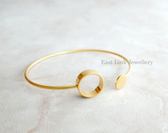 Copper based geometry bangle bracelet circle round fashion jewellery