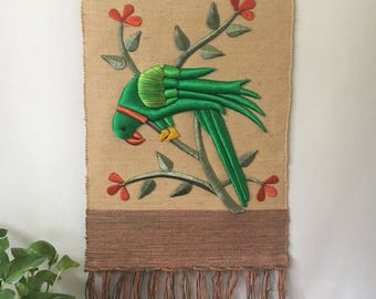 Vintage Parrot Wall Hanging