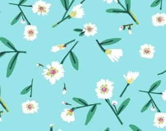 Mint Julep - Lake Flowers Turquoise - Dear Stella (Stella-891-Turquoise)