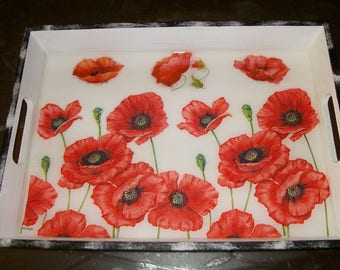 Table top, to serve coffee poppies collection