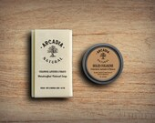 Cedarwood, Lavender & Tobacco Solid Cologne in a Travel Tin and Natural Soap combo, Vegan, Alcohol Free, Handcrafted Soap + Solid Cologne