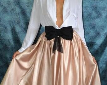 Summer Wedding Sale Custom made 'April' taffeta or satin pleated full skirt fashionista separates