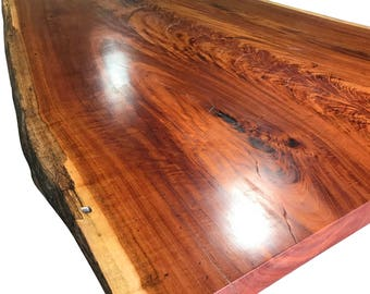 Live Edge Table  Top Tiger wood, Live Edge Dining Table solid custom base free shipping