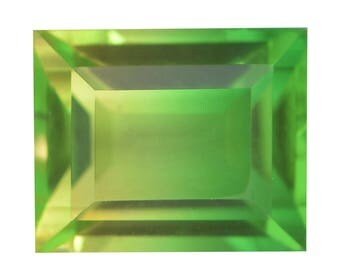 Lime Quartz Triplet Baguette Cut Loose Gemstone 1A Quality 12x10mm TGW 7.20 cts.
