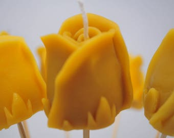 Candle Rose-Buy one get one free - Beeswax candle Eco-friendly candle -  Romantic Long Stem Rose