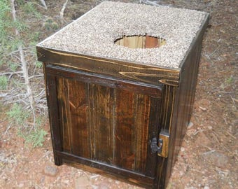 Jumbo Cedar Kitty Litter Cabinet - Top Entry