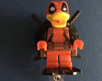 Howard Duck™ Deadpool™ Marvel® Comic ID Holder Customized ~ Retractable Badge Reel ~ Belt Clip ~ Alligator Clip ~ Keychain Nurses Teachers