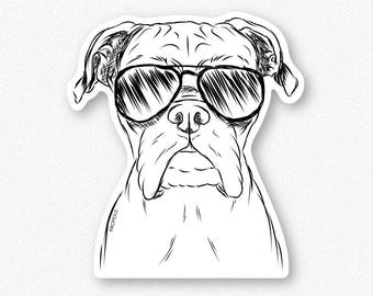 Axel the Boxer - Boxer Decal Sticker, Boxer Lover, Gifts For Dog Owner, Boxer Art, Dog Breed Sticker, Boxer Dog Decal, Dressed Dog