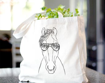 Rio the Horse - Canvas Tote Bag - Gift For Horse Lover