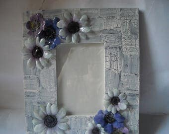 Picture frame, picture frame, door portrait with anemones in 3d